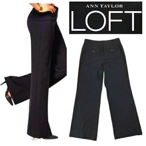 NWT LOFT High Waist Curvy Black Trouser Dress Pant
